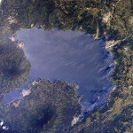 Guatemala's Lago de Atitlan, viewed from space