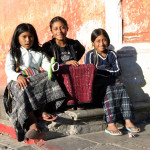 Young girls in Antigua, Guatemala